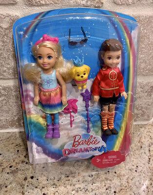 """Barbie Dreamtopia Dolls 5 1/2"""" New Chelsea & Otto & Puppy Dog Figure Set"""