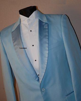 36 R Blue Dumb and Dumber Tuxedo Coat 1975 All Sizes Vintage Tux - Blue Dumb And Dumber Tuxedo