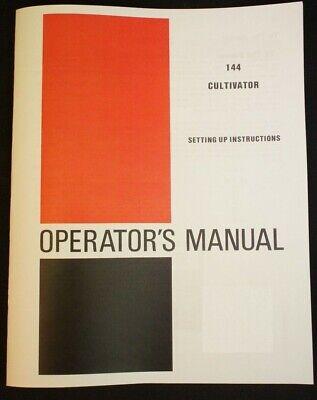 Farmall 140 Cultivator Side Dresser Manual Ih International-144 Super A 100 130