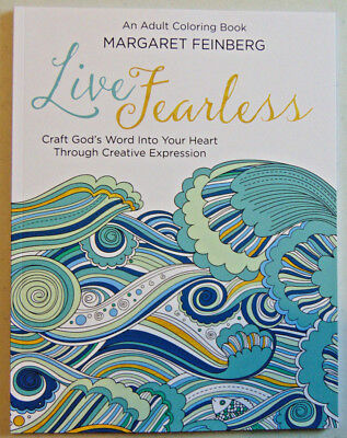 Live Fearless  An Adult Coloring Book   Journal  Christian Bible Scripture Verse