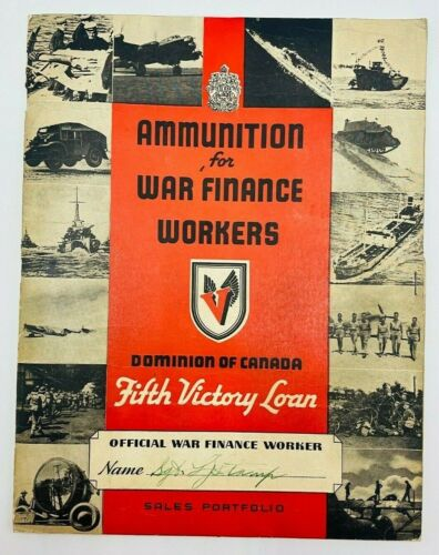 Ammunition for war finance workers Fifth victory loan sales portfolio