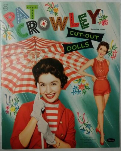 Vintage 1955 PAT CROWLEY Whitman #2050 Paper Dolls UNCUT