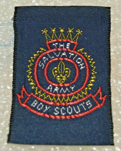 Five Yellow Stars THE SALVATION ARMY No Maple Leaf Boy Scout Badge Cdn. (NAT3C)