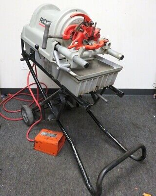 Ridgid Portable Pipe Bolt Threader Threading Machine Model 1822-i With Stand