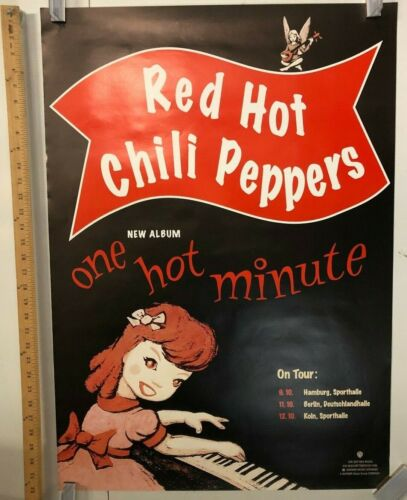 Red Hot Chili Peppers One Hot Minute Tour Poster Germany Classic Funk Rock