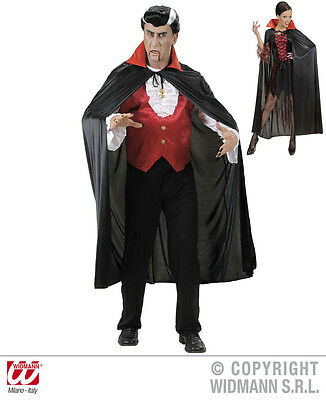 Kostüme Mit Rotem Cape (Umhang Cape schwarz mit rotem Satin Kragen, Herren, Damen)