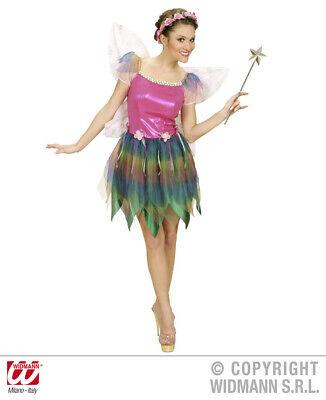 Ladies Rainbow Fairy Fancy Dress Costume Pixie Fairytale Outfit Uk 10/12 Womens
