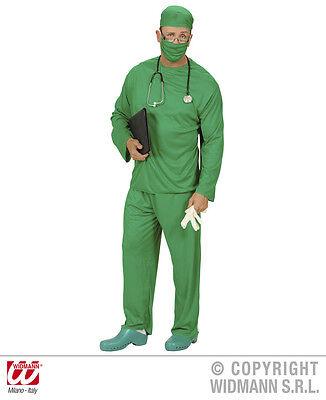 CHIRURG Kostüm, Arzt, Doktor Herren grün 5tlg.Gr. S M L XL - Grün Arzt Kostüm