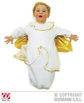 Baby Im Kostüm (Engel Kostüm weiss BABY 50-74, Engel Kostüm im Strampelsack m. Kopfbedeckung)