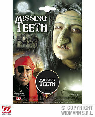 Halloween Missing Teeth for Fancy Dress Make Up Witch Pirate Scary - Pirate Makeup For Halloween