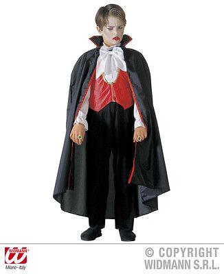 DRACULA Vampir Kostüm Overall + Umhang Kinder 3884, Gr. (Dracula Kostüm Kinder)