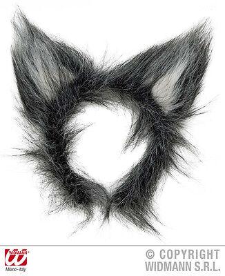 Wolfsohren Plüsch grau Ohren Wolf auf Haarreif Universalgröße Kostüm - Kostüm Ohren