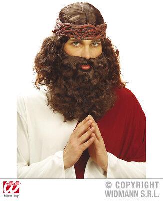 Propheten Perücke mit Bart - Faschingsperuecke Jesus Jünger Prophetenperücke