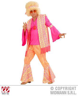 S5775 Kostüm Hippie Mann Hippy Fasching Verkleidung 70er Blumenkind Gr  S - XL