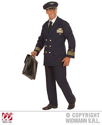 Pilot Kostüme (S5773 Kostüm Pilot Pilotenkostüm Flugbegleiter Mottoparty Fasching Gr. S - XXL)