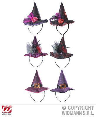 Haarreif mit Hexenhut Fascinator sortiert Halloween Gothic Hexenkostüm - Fascinator Hut Kostüm