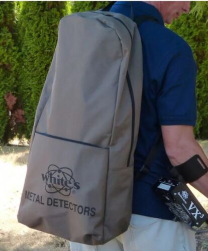 Whites Brown Backpack Metal Detector Case NEW