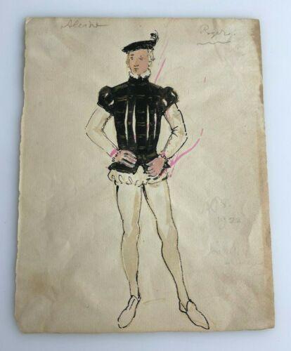 Alexander BENOIS Theater Opera Costume Design Drawing Roger Dapper Man