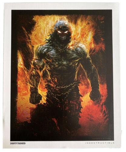Authentic Disturbed Indestructible Original Litho Promo Promotional Poster 15x12