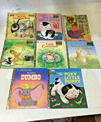 Little Golden Books Lot Of 8 Baby Animals (has a golden sticker)