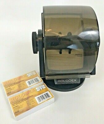 Rolodex Card File Cards Business Vintage Rotary Black Index Address 35c Refills