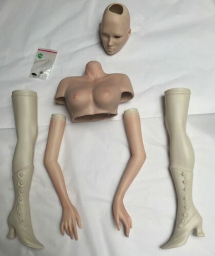 """26""""Dorian Doll Porcelain -ready to Paint- Sculpted by Char Smithplus  patterns"""