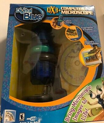 Digital Blue Qx3 Computer Microscope Bring Microsoft Images To Life Unused
