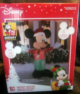 NEW Disney Gemmy MICKEY MOUSE 6 ft Airblown Inflatable CHRISTMAS Lawn Decoration