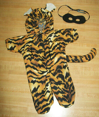 YELLOW TIGER CAT HALLOWEEN COSTUME W/ MASK for 15-16-17