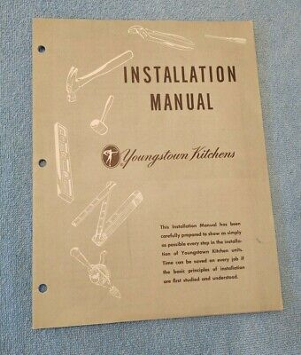 OLD Vtg Youngstown Kitchens 1950 Installation Manual  31 pages  EUC