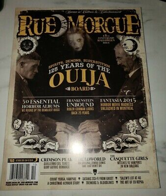 Brand New Rue Morgue 18th Anniv. Halloween Issue: 125 Years of the Ouija Board