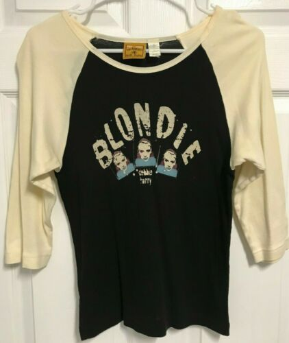 BLONDIE Debbie Harry Ladies 3/4 Sleeve T Shirt L Original Rockware Anthill Trade