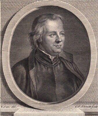 Portrait XVIIIe Noel Etienne Sanadon Prêtre Jesuite Cie De Jésus Traducteur 1786