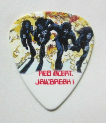 THIN LIZZY Collectors Guitar Pick; Jailbreak -- Red Alert