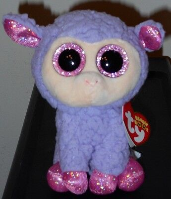 """NMT* Ty Beanie Boos ~ LAVENDER the 6"""" Lamb Stuffed Plush Toy ~ NEW with NM TAG"""