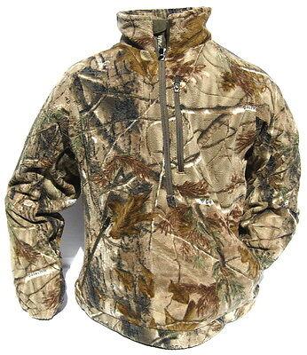 Cabela's Dimension Fleece 1/4 Zip Windshear Scent Hunting Pullover Jacket