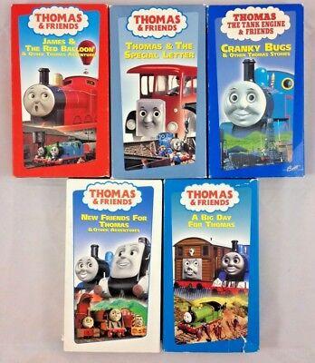 VHS Tape Lot of 5 Thomas the Tank Engine & Friends George Carlin Alec Baldwin
