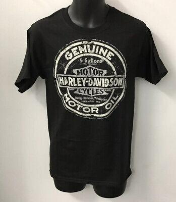 Harley Davidson Men's Tin Oil Sign Short Sleeve T-Shirt Black R003343