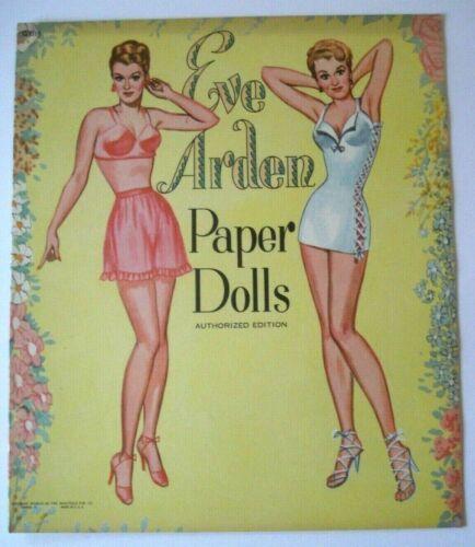 Vintage EVE ARDEN Paper Dolls  Uncut Book  Saalfield Publishing  1953