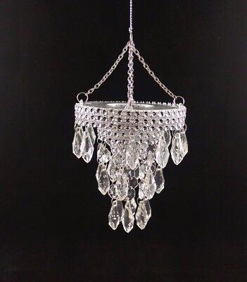 "4"" Acrylic Crystal Chandelier Christmas Hanging Ornament Decor"