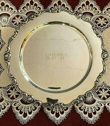 Peruvian Sterling Tray or Charger Ornate  11""