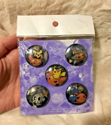 Ghost Pokemon Halloween (Pokemon Center Halloween Pokemon Pumpkin Badge Button Pin 2009 rare japan)
