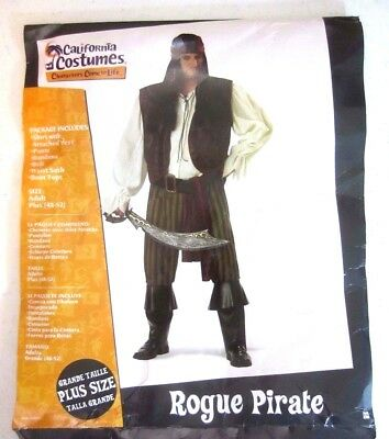 Rogue Pirate Halloween California Character Costume Adult Plus Size 48-52 CV9