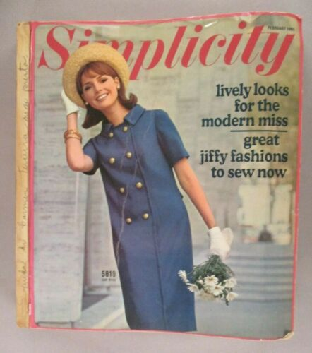 Simplicity Patterns CATALOG - 1965 ~~ giant store counter pattern book