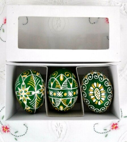 Hand Painted Decorative 3 Real All Season Egg Shell From Moravia, Czech Republic