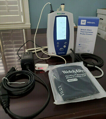 Welch Allyn 42mtb 42ntb Masimo Set 420 Spot Vital Signs Monitor Spo2 Temp Nibp