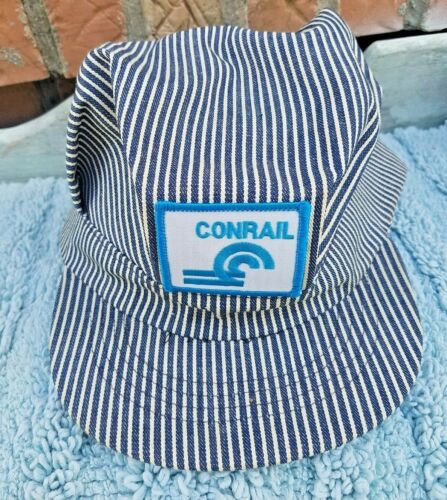 ^Vintage Conrail RR Train Conductor Engineers Adjustable Cap Hat-Made in USA