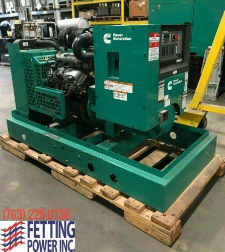 Used 42kW Cummins Standby NG/LPV 120/240V 1PH Generator GGFE | S/N: G090012923
