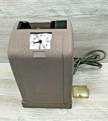 Vintage Simplex Model 8400 Aaaa Time Recorder Timecard Punch Clock Parts-repair