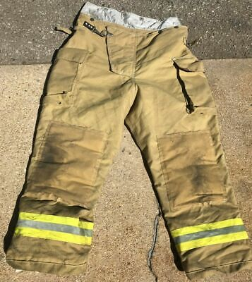 Firefighter Uniform Pants Size 42 X 28 Quaker Safety Turnout Bunker Fireman Nice